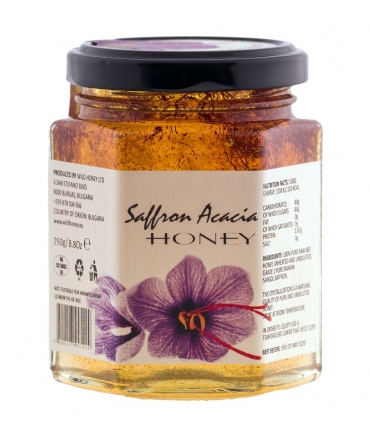 Bulgarian Raw Acacia Saffron Honey 400g