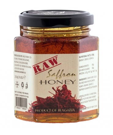 Raw Saffron Wildflower Honey 250g