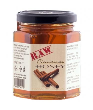 Raw Wildflower Honey + Organic Cinnamon 250g
