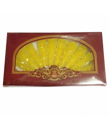 Persian Saffron Sugar Candy 12 Sticks 350g